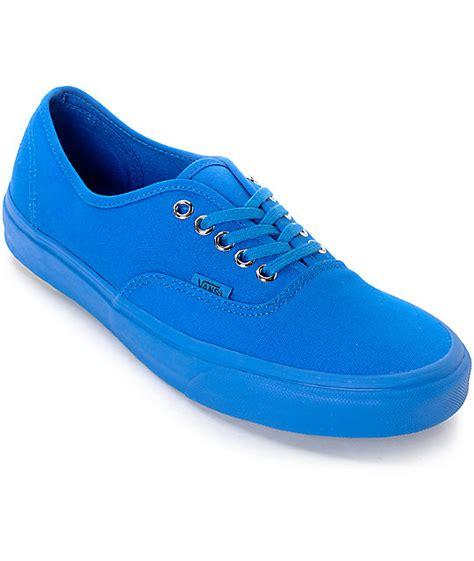 vans california blue canvas vans authentic mono imperial blue canvas skate shoes