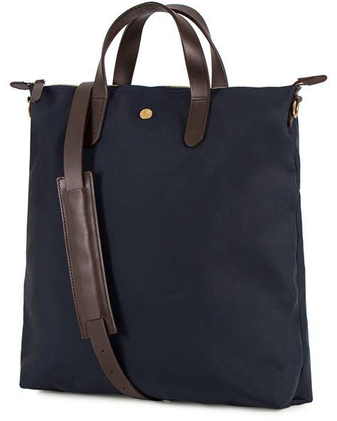 Les Catino Promesa Satchel M Navy 1 mismo m s shopper bag navy brown hos careofcarl