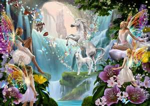 Design Duvet Cover Unicorn And Fairy Waterfall Photograph By Garry Walton