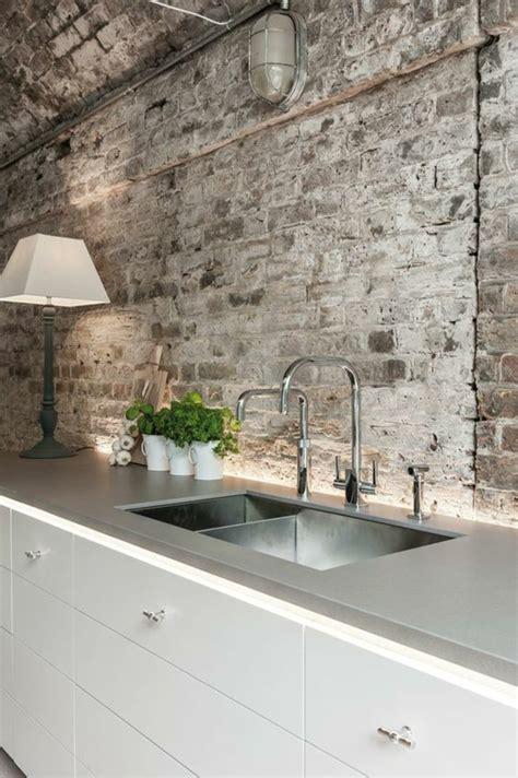 bilder rustikale k 252 chengestaltung ideen k 252 chenr 252 ckwand aus - Küchengestaltung Wand
