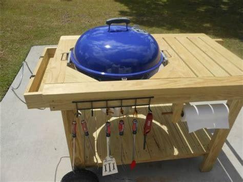 weber grill table plans blue table deck ideas