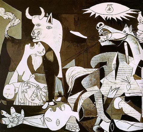 Guernica Detail Picasso 1930s Wallpaper Picture
