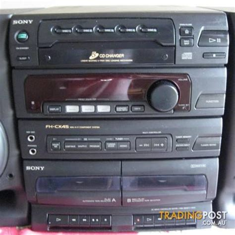 mini stereo system with cassette player sony fh cx45 mini stereo system am fm cd player dual