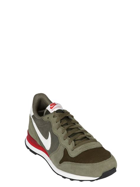 sneakers for nike internationalist suede sneakers in green for lyst
