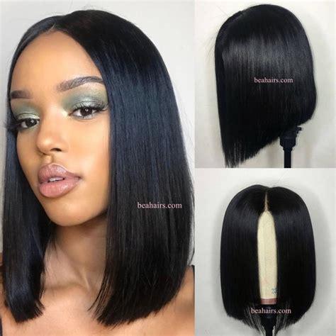 show me all blunt cut bobs 2 4 lace closure blunt cut bob brazilian human hair silk