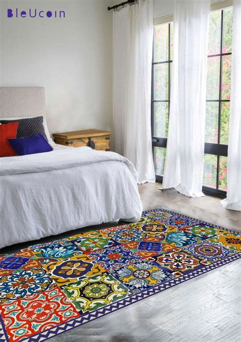 talavera tile rug floor vinyl rug mexican talavera style vinyls runners and be cool