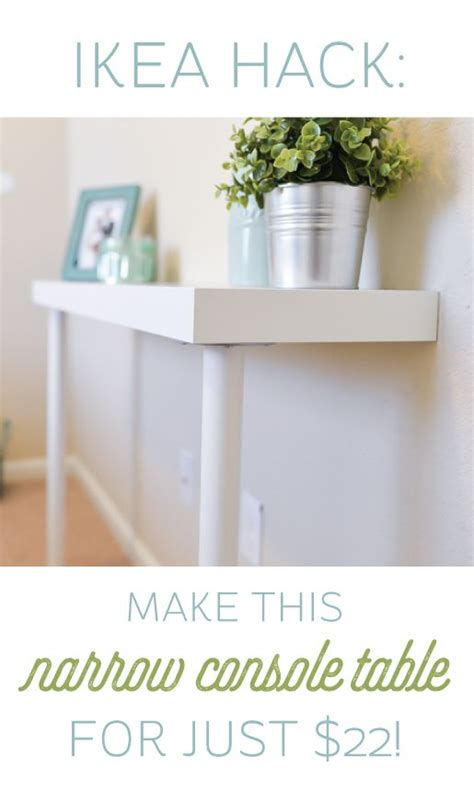 console hack narrow console table ikea hacks and console tables on