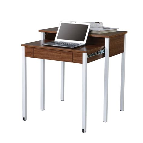 Modern Student Desk Modern Design Space Saving Retractable Student Desk Walnut Ebay