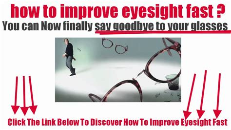 how to get better vision fast how to improve eyesight fast