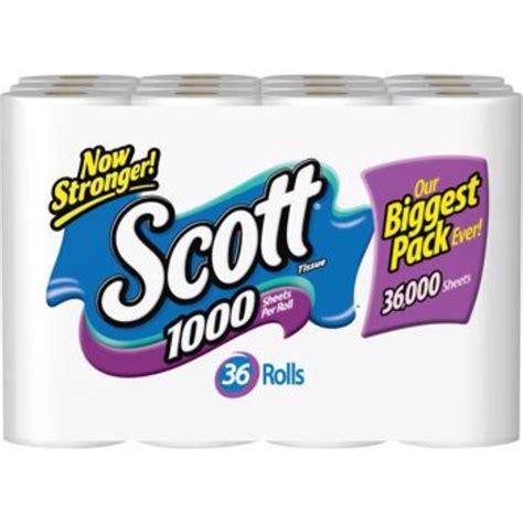 scott bathroom tissue scott bath tissue toilet paper 36 rolls 1 000 sheets per