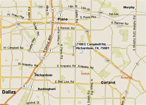 map of richardson texas city of richardson tx directions