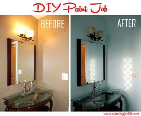 cleaning bathroom walls before painting bathroom diy home projects cleaning junkie challenge