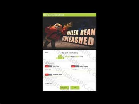 killer bean mod apk killer bean unleashed mod apk unlimited gold coins unlock weapon and unlimited ammo