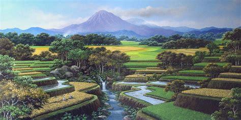 gambar pemandangan gunung rumah