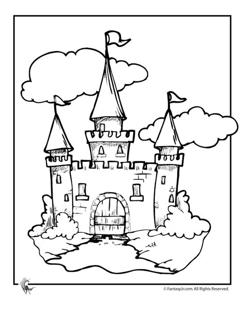 coloring page castle printable castle coloring pages az coloring pages