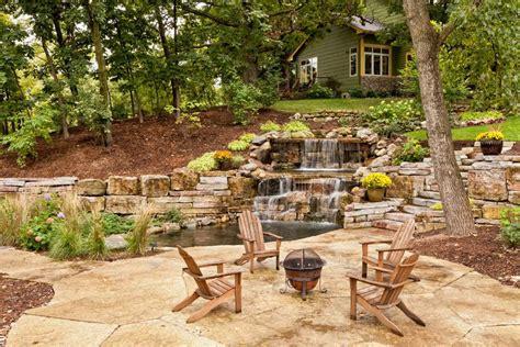 pond waterfall designs  ideas