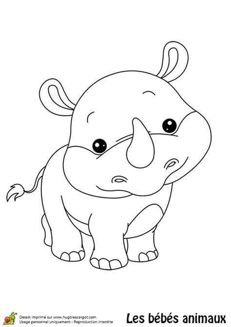 baby rhino coloring page coloriages page 6