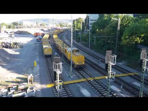 innerer nordbahnhof stuttgart rangierverkehr an der verladestation stuttgart 21 am