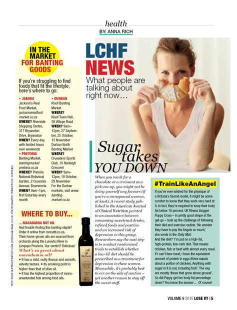 Buzzworthy Fitness And Health News by Thanks For The Mention Lose It Magazine Poppy Cross