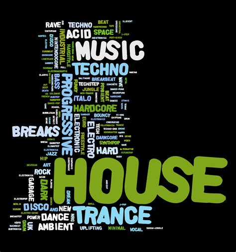 house music types electronic dance music group tracks