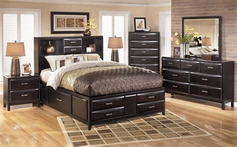 kira storage bed kira storage panel bedroom set in black