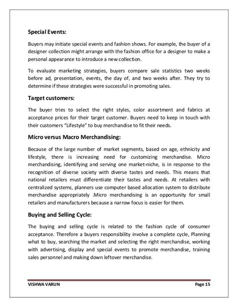fashion design brief description retail merchandising strategy for fashion merchandise