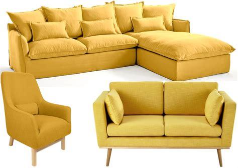 canap駸 fauteuils 20 fauteuils et canap 233 s jaunes pour le salon joli place