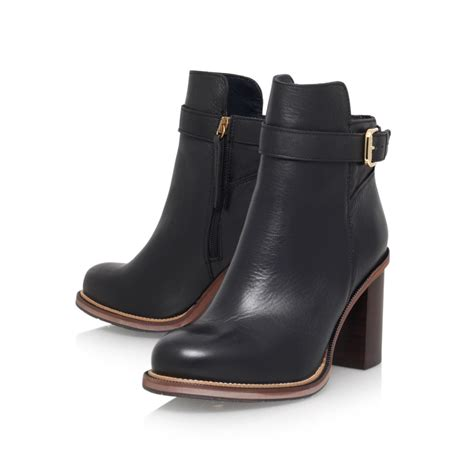 high heeled boot lyst hilfiger leather high heel ankle boot in black