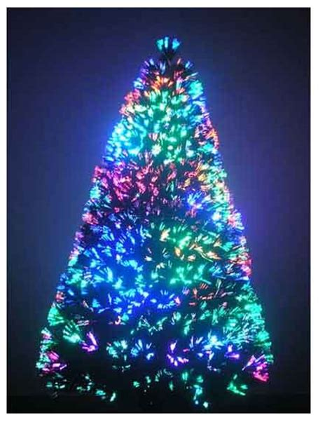 7 ft fiber optic christmas tree