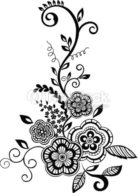 Wallpaper Stiker Motif Black And Blue Batik Ukuran 45 Cm X 10 Meter hojas y flores elemento de dise 241 o con imitaci 243 n guipure