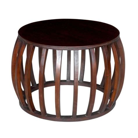 decorative accent table decorative dawson modern brown round accent table