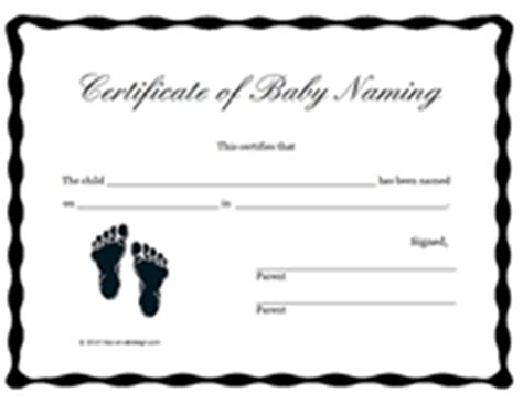 naming certificates free templates free printable baby naming certificates blank templates