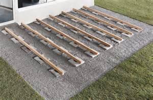 unterkonstruktion terrasse kunststoff 20 auflagepads
