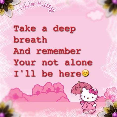 hello kitty quote wallpaper cute hello quotes quotesgram