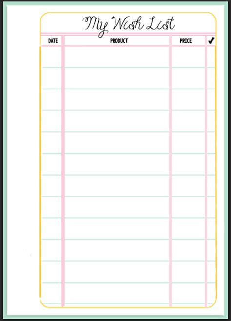printable filofax personal year planner filofax wish list printable wendaful