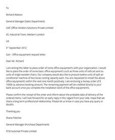 Transfer Equipment Letter 27 Requisition Letter Format