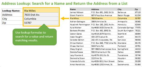 Address To Name Lookup The Ultimate Lookup Formulas Course From Excel Cus