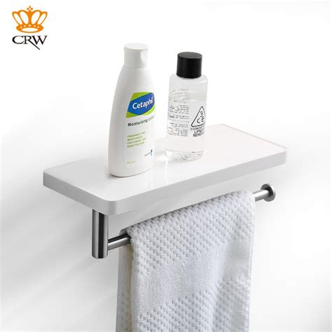 crw bathrooms crw bathroom storage holder shower shelf with towel bar