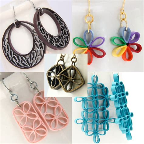 How To Make Paper Earrings - paper quilling jewelry beginners www pixshark