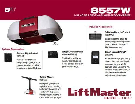 liftmaster elite series 174 model elite series garage door opener liftmaster elite series 174 model 8500 wall mount garage door