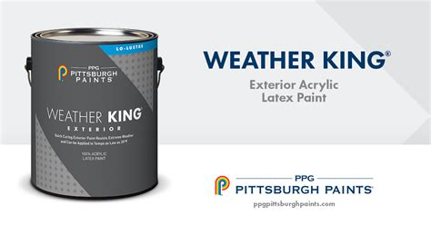 ppg pittsburgh paints weather king latex paint