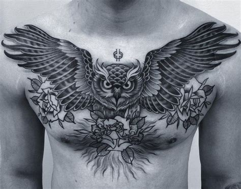 owl chest piece tattoo designs best 25 owl chest ideas on