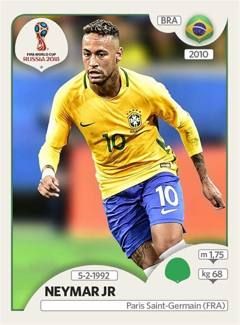 corte de neymar 2018 russia neymar jr brasil panini fifa world cup russia 2018