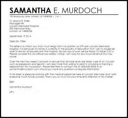 Resignation Letter Due To Relocation Uk Resignation Letter Due To Relocation Livecareer