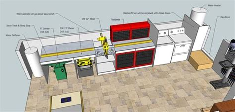 workshop layout sketchup building the ultimate garage woodshop 4 sketchup plans