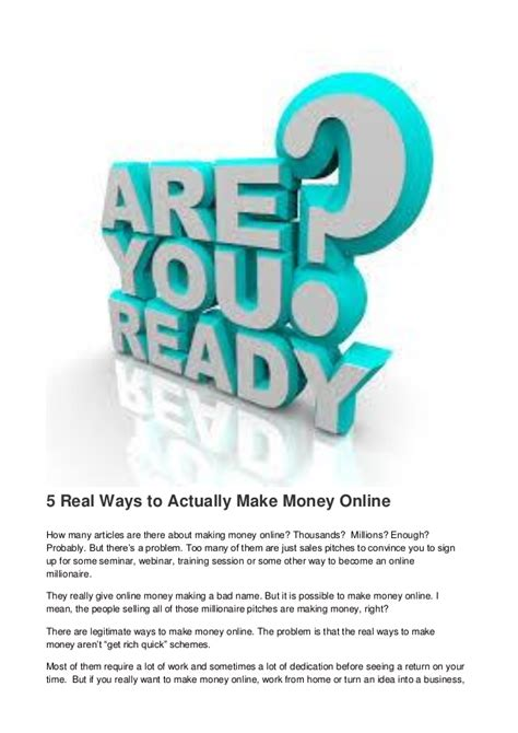 5 real ways to actually make money online - Ways To Actually Make Money Online
