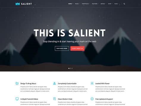 themeforest salient 13 best selling wordpress themes on themeforest 2015
