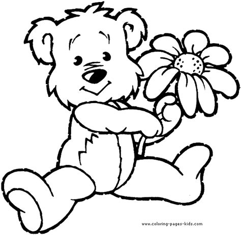 coloring pages of animals and flowers bear with a flower bear color bears animal coloring