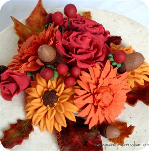 fall flowers fall flowers anniversary cake cakecentral