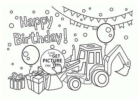 black and white birthday card template free cars happy birthday card for boys coloring page for